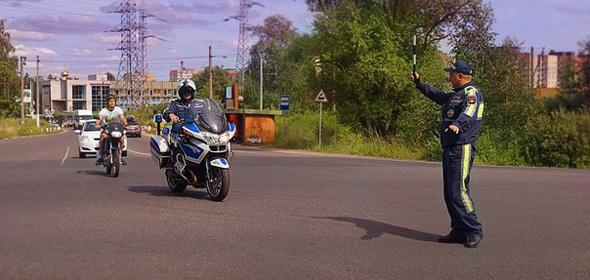 Десятерых мотоциклистов оштрафовали в подмосковной Дубне