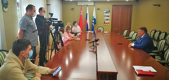 Глава Дубны Максим Данилов рассказал о ситуации с коронавирусом и последних городских событиях