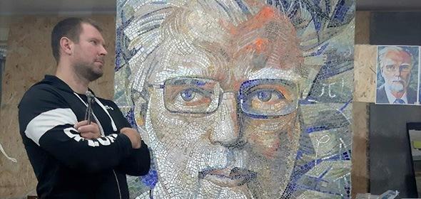 Мозаичный портрет академика Кадышевского создали в Дубне