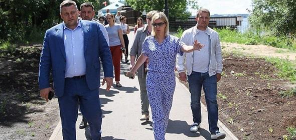 Министр правительства Подмосковья по информполитике Анастасия Звягина посетила Дубну