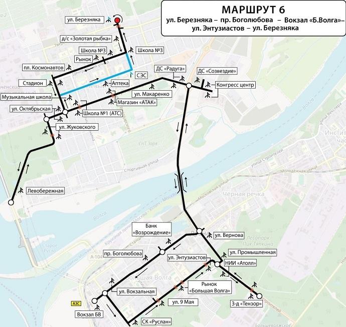 В связи с закрытием тоннеля на ремонт, автобусный маршрут №6 пойдет через мост